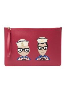 Dolce & Gabbana DG Sailor Leather Clutch