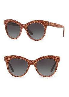 Dolce & Gabbana DG4311 Glitter Floral 51MM Cat Eye Sunglasses