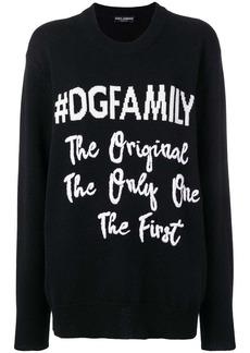 Dolce & Gabbana #DGFAMILY jumper