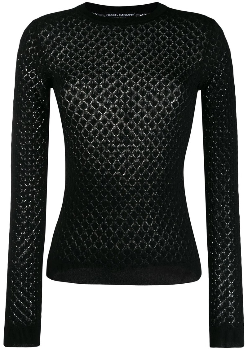 Dolce & Gabbana diamond knitted jumper