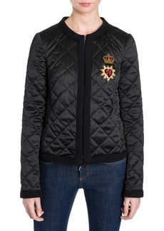 Dolce & Gabbana Diamond Quilted Sacred Heart Jacket