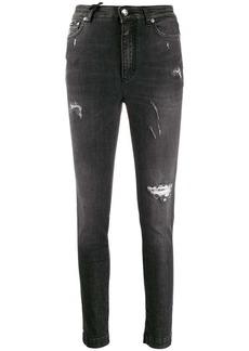 Dolce & Gabbana distressed-effect slim fit jeans