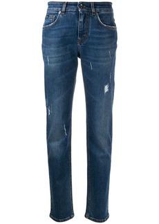 Dolce & Gabbana distressed slim-fit denim jeans