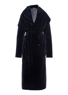 Dolce & Gabbana - Women's Shawl-Lapel Velvet Coat - Black - Moda Operandi