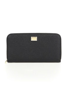 Dolce & Gabbana 3301 Continental Leather Zip Wallet