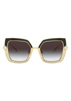 Dolce & Gabbana 51mm Gradient Square Sunglasses