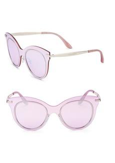 Dolce & Gabbana 51MM Mirrored Cat Eye Sunglasses