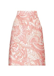 Dolce & Gabbana A-line floral-brocade knee-length skirt