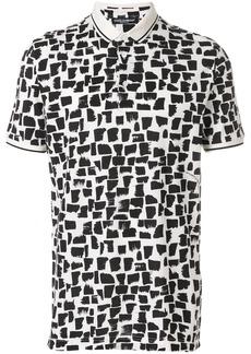 Dolce & Gabbana abstract pattern polo shirt - Black