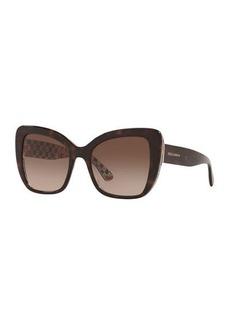 Dolce & Gabbana Acetate Butterfly Sunglasses