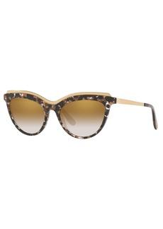Dolce & Gabbana Acetate Cat-Eye Sunglasses w/ Metal Ridged Trim