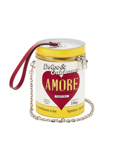 Dolce & Gabbana Amore can leather clutch