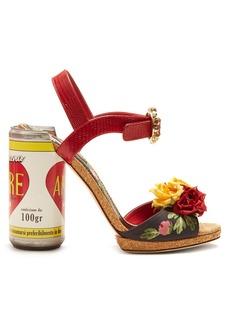 Dolce & Gabbana Amore floral-embellished sandals