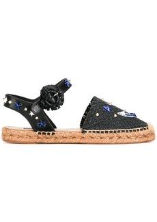 Dolce & Gabbana anchor espadrille sandals - Black