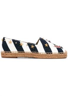 Dolce & Gabbana anchor striped espadrilles - Blue