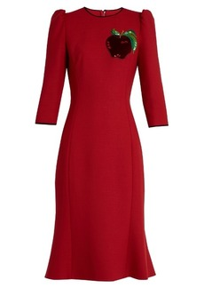 Dolce & Gabbana Apple-appliqué twill dress