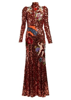 Dolce & Gabbana Appliqué sequin-embellished gown