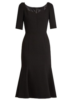 Dolce & Gabbana Armaturato stretch-wool flared dress