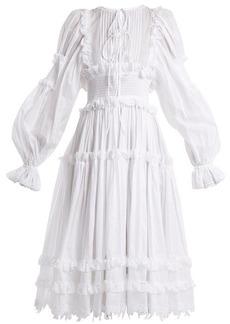 Dolce & Gabbana Balloon-sleeved cotton-blend dress