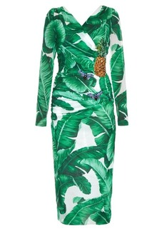 Dolce & Gabbana Banana leaf-print embellished dress
