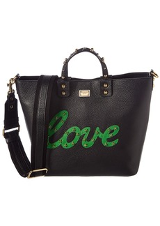 Dolce & Gabbana Beatrice Love Small Leather Tote