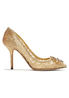 Dolce & Gabbana Bellucci crystal-embellished lace pumps
