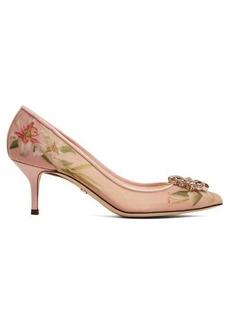 Dolce & Gabbana Bellucci lily-print mesh pumps