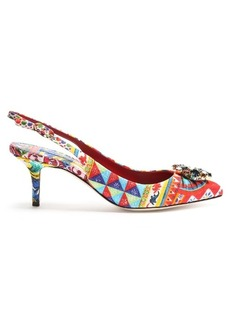 Dolce & Gabbana Belluci Majolica-print brocade pumps