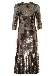 Dolce & Gabbana Bi-colour sequinned midi dress