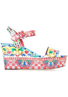 Dolce & Gabbana Bianca wedge sandals - Multicolour