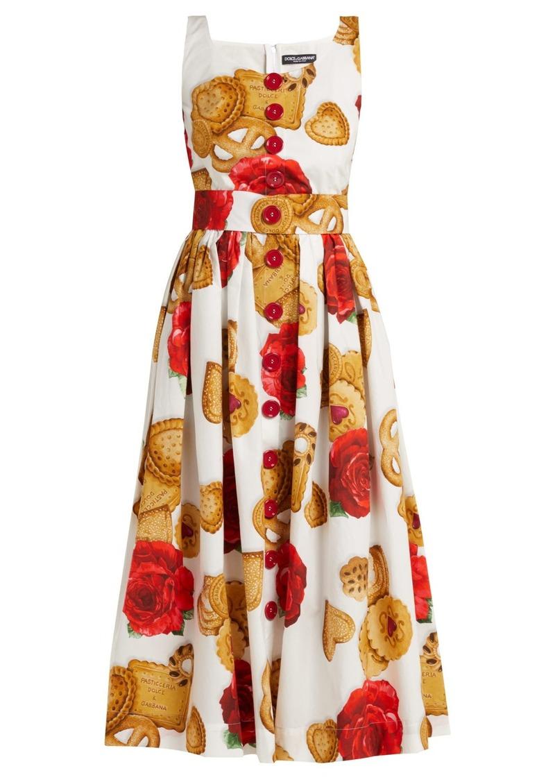 4a56c3c94e Dolce   Gabbana Dolce   Gabbana Biscotti and rose cotton midi dress ...