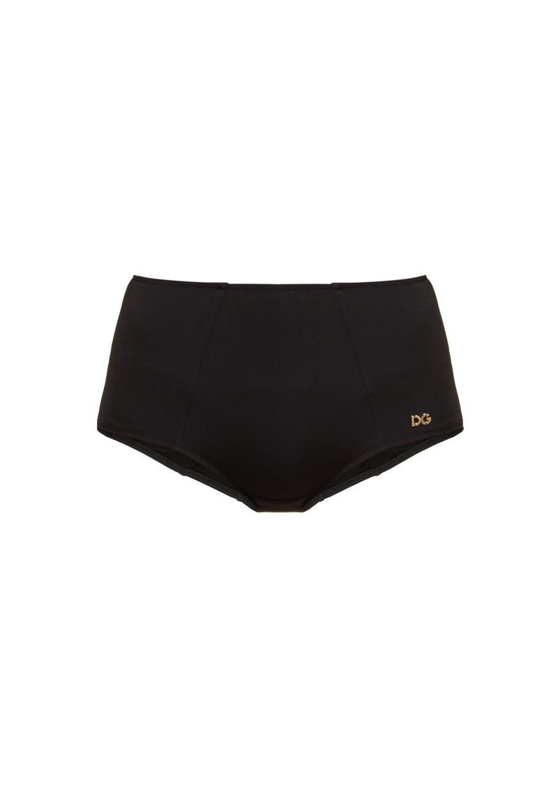 a469357d6b Dolce   Gabbana Dolce   Gabbana Black high-waisted bikini briefs ...