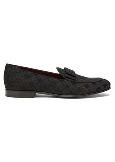 Dolce & Gabbana Bow-tie diamond-brocade loafers