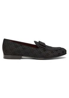 Dolce & Gabbana Bow-tie diamond-brocade loafers