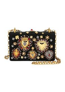 Dolce & Gabbana Brocade DG Girls Embellished Handbag