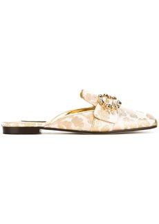 Dolce & Gabbana brocade embellished mules - Nude & Neutrals