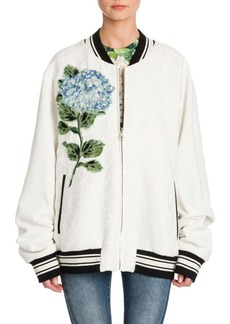 Dolce & Gabbana Brocade Embroidered Bomber Jacket