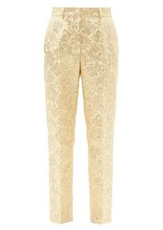 Dolce & Gabbana Brocade slim-leg trousers