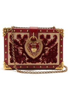 Dolce & Gabbana Brocade velvet box bag