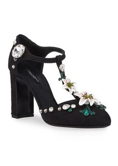 Dolce & Gabbana Broccato Mary Jane Pumps