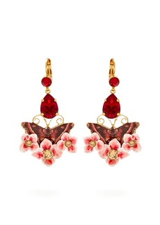Dolce & Gabbana Butterfly and crystal drop clip-on earrings
