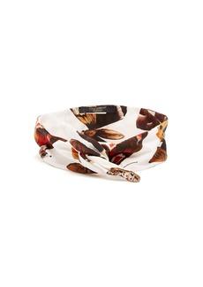 Dolce & Gabbana Butterfly-print cotton headband