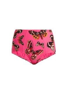 Dolce & Gabbana Butterfly-print high-rise bikini briefs
