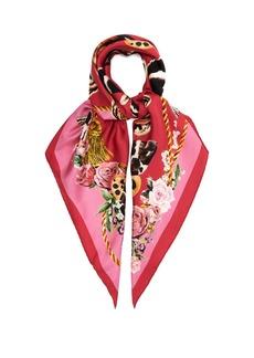 Dolce & Gabbana Butterfly-print silk-twill scarf