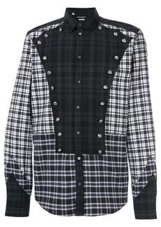 Dolce & Gabbana button detail checked shirt - Blue