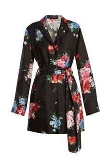Dolce & Gabbana Button-down floral-print silk-twill jacket