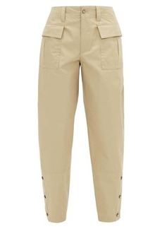 Dolce & Gabbana Buttoned-cuff cotton-twill safari trousers