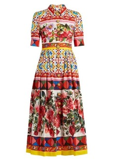 Dolce & Gabbana Carretto-print cotton-poplin midi dress