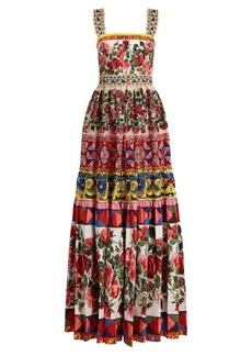 Dolce & Gabbana Carretto-print, lace and sequin gown