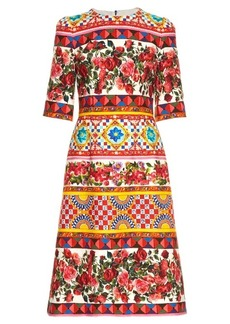 Dolce & Gabbana Carretto-print midi dress